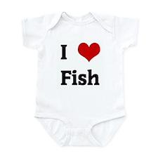 I Love Fish Infant Bodysuit