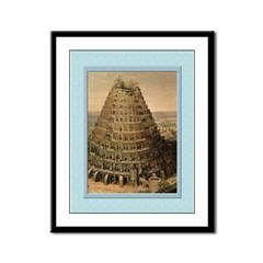 Tower of Babel-Valkenborgh-9x12 Framed Print