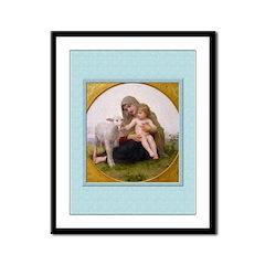 Virgin and Lamb-Bouguereau-9x12 Framed Print