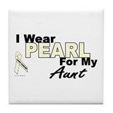 I Wear Pearl 3 (Aunt LC) Tile Coaster