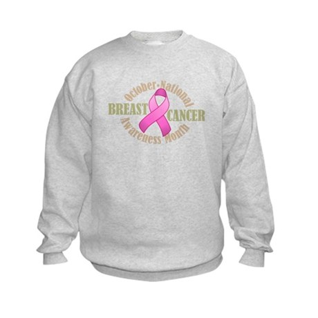Breast Cancer Month Kids Sweatshirt