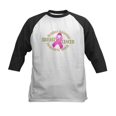Breast Cancer Month Kids Baseball Jersey