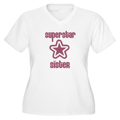 Superstar Sister Women's Plus Size V-Neck T-Shirt