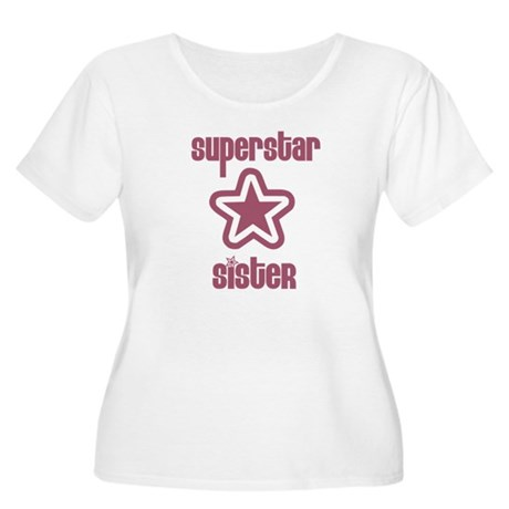 Superstar Sister Women's Plus Size Scoop Neck T-Sh