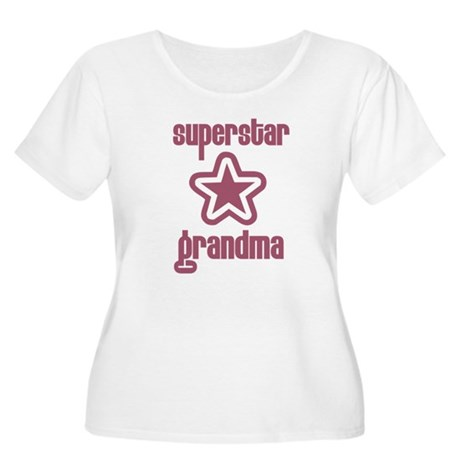 Superstar Grandma Women's Plus Size Scoop Neck T-S