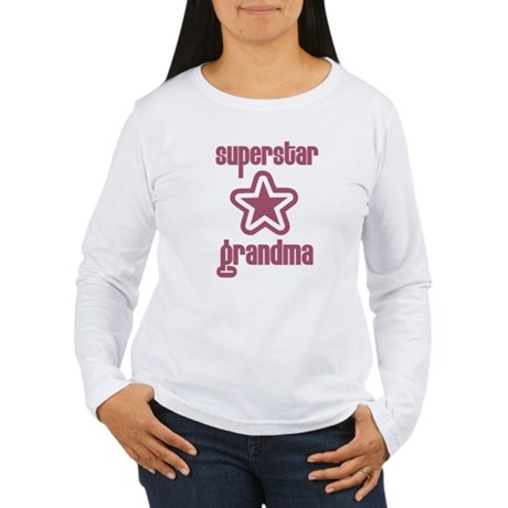 Superstar Grandma Women's Long Sleeve T-Shirt