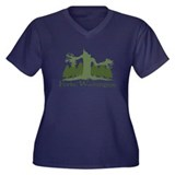 Forks, WA Women's Plus Size V-Neck Dark T-Shirt