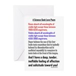 Science Geek Love Poem Greeting Cards (Pk of 20)
