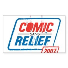 COMIC sans RELIEF Rectangle Decal