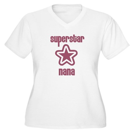 Superstar Nana Women's Plus Size V-Neck T-Shirt