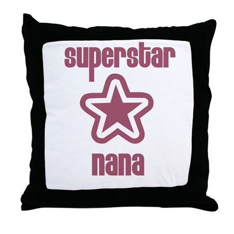Superstar Nana Throw Pillow