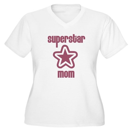 Superstar Mom Women's Plus Size V-Neck T-Shirt