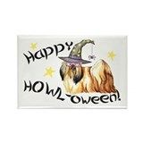 Halloween Lhasa Apso Rectangle Magnet
