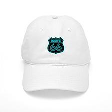 Route 66 Neon - Teal Baseball Cap