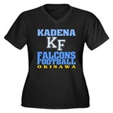 Kadena Falcons Women's Plus Size V-Neck Dark T-Shi
