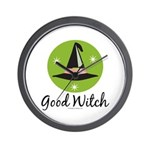 Witches Hat Good Witch Wall Clock