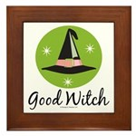 Witches Hat Good Witch Framed Tile