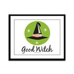 Witches Hat Good Witch Framed Panel Print