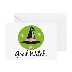 Witches Hat Good Witch Greeting Cards (Pk of 20)