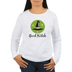 Witches Hat Good Witch Women's Long Sleeve T-Shir