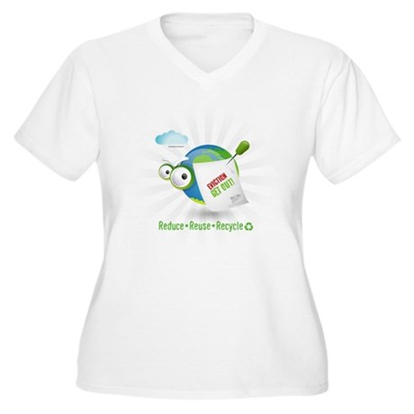 Eviction from Earth Funny Women's Plus Size V-Neck