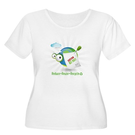 Eviction from Earth Funny Women's Plus Size Scoop