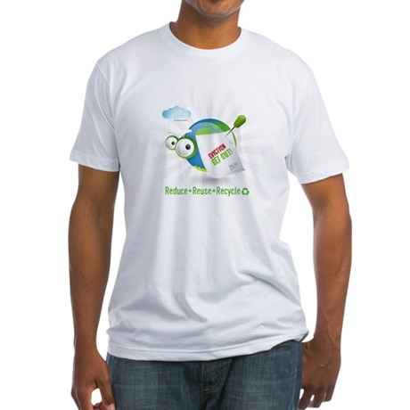 Eviction from Earth Funny Fitted T-Shirt