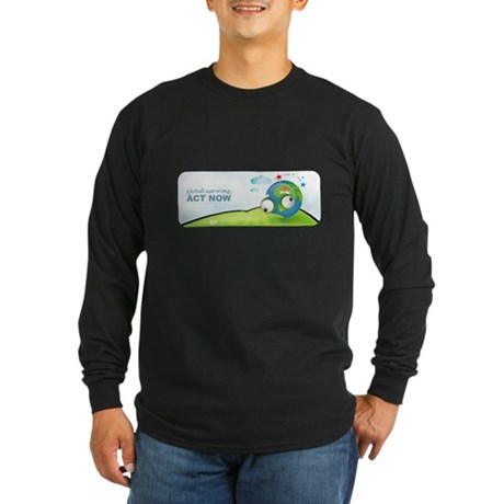 Recycle Wide Long Sleeve Dark T-Shirt