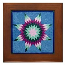 Star Quilt Framed Tile