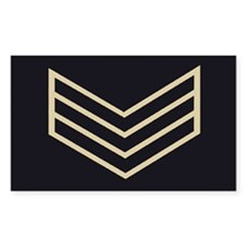 Sergeant Chevrons<BR> Sticker 1