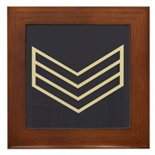 Sergeant Chevrons<BR> Framed Tile