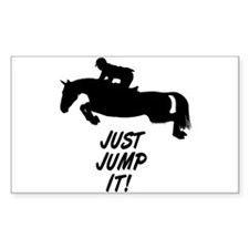 Just Jump It. Horse Rectangle Decal