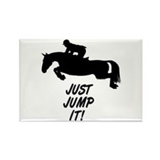 Just Jump It. Horse Rectangle Magnet