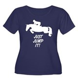 Just Jump It. Horse Women's Plus Size Scoop Neck D