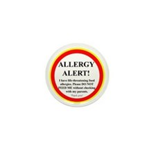 Food Allergy Alert Mini Button (10 pack)