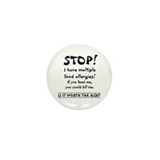Food Allergy Mini Button (10 pack)