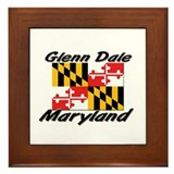 Glenn Dale Maryland Framed Tile