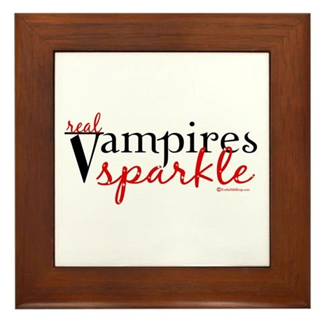 Real Vampires Sparkle Framed Tile