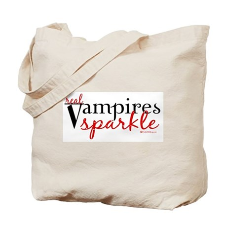Real Vampires Sparkle Tote Bag