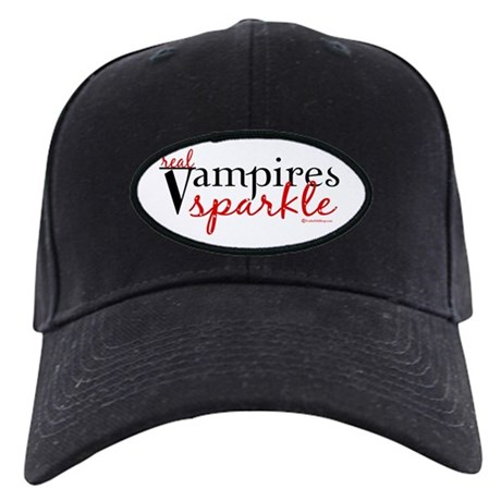 Real Vampires Sparkle Black Cap