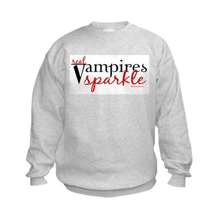Real Vampires Sparkle Kids Sweatshirt