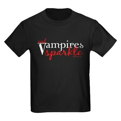 Real Vampires Sparkle Kids Dark T-Shirt