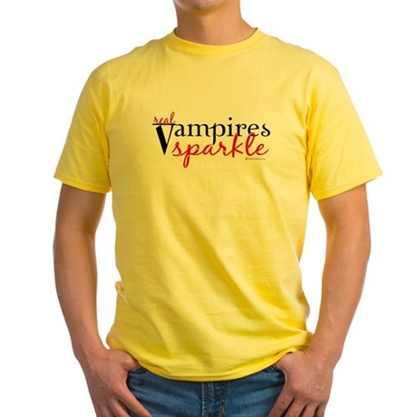 Real Vampires Sparkle Yellow T-Shirt