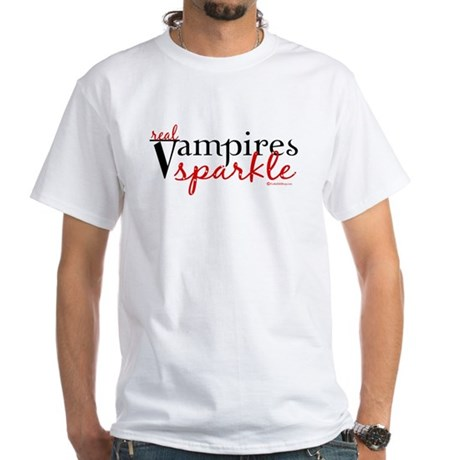 Real Vampires Sparkle White T-Shirt