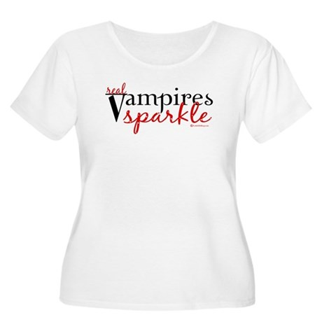 Real Vampires Sparkle Women's Plus Size Scoop Neck