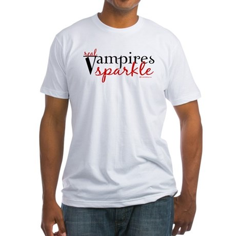 Real Vampires Sparkle Fitted T-Shirt