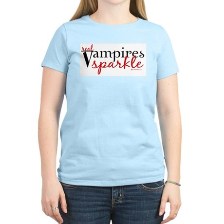 Real Vampires Sparkle Women's Light T-Shirt