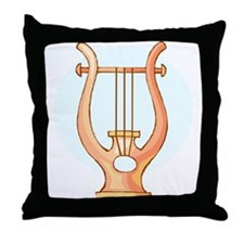 Lyre Throw Pillow