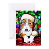 Aussie Santa Pup Greeting Cards (Pk of 20)
