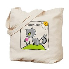 Happy Day Cat Tote Bag